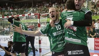 Wacker Thun erreicht im entscheidenden Spiel die Playoff-Halbfinals und trifft dort ab Sonntag auf Pfadi Winterthur, gegen das es vor einem Jahr den Playoff-Final gewonnen hat.