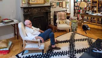 Michael Wolff in his apartment.