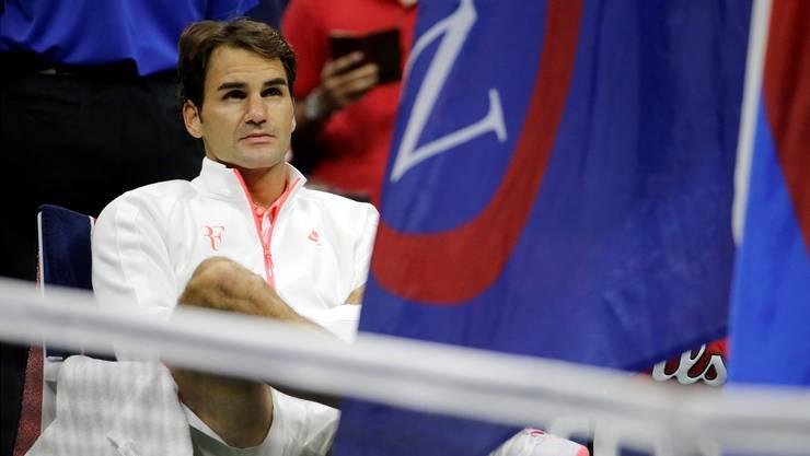 Längst mit positiven Emotionen überschrieben: Roger Federer nach der US-Open-Finalniederlage 2015.Keystone