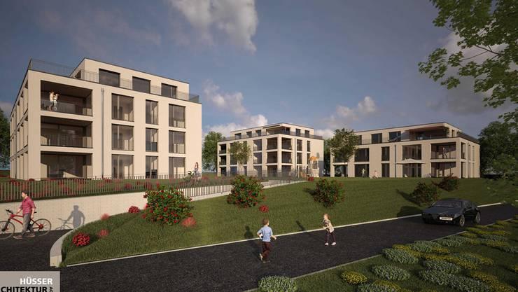 Drei Mehrfamilienhäuser in unmittelbarer Nähe zum Bahnhof und zu Einkaufsmöglichkeiten sind in Frick geplant.