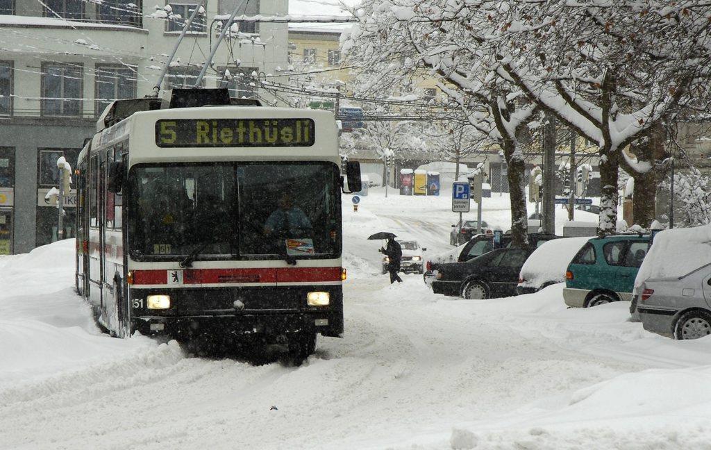 Am 4.März 2006 versank die Stadt St.Gallen im Schnee. (© Tagblatt)