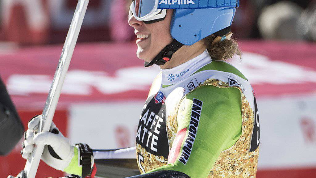 Ilka Stuhec gewann den Super-G in Crans-Montana überlegen