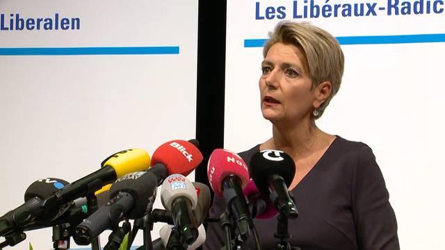 «Ich stelle mich zur Verfügung»: Karin Keller-Sutter sagt Ja zu Bundesrats-Kandidatur