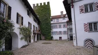 Der schmucke Innenhof des Schlosses.