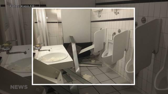 Vandalismus im Schulhaus Bösingen