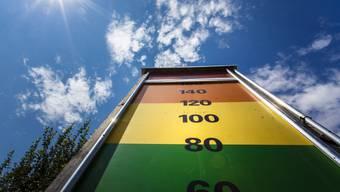 Die Belastung spreng schier die Ozon-Anzeigetafel von Zuchwil.