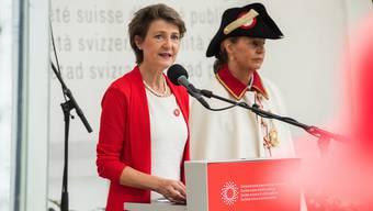 Bundespräsidentin Simonetta Sommaruga lobte in ihrer 1. August-Rede die Schweizer Bevölkerung für ihr Verhalten im Zusammenhang mit dem Corona-Virus.