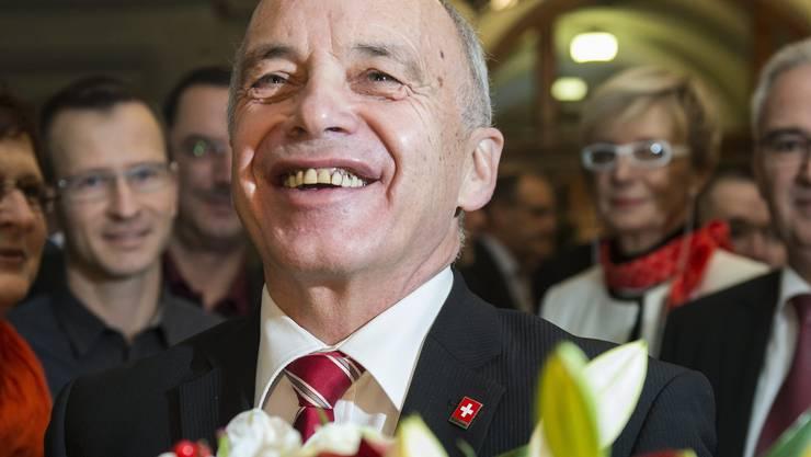 Ueli Maurer wurde am Mittwochmorgen zum Bundespräsidenten gewählt.