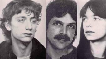 Frühere Fahndungsbilder der RAF-Terroristen: Burkhard Garweg, Ernst-Volker Staub und Daniela Klette sollen im Juni einen Geldtransporter überfallen haben.