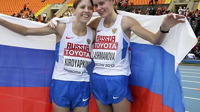 Russischer Doppelsieg durch Laschmanowa (re.) und Kirdjapkina.
