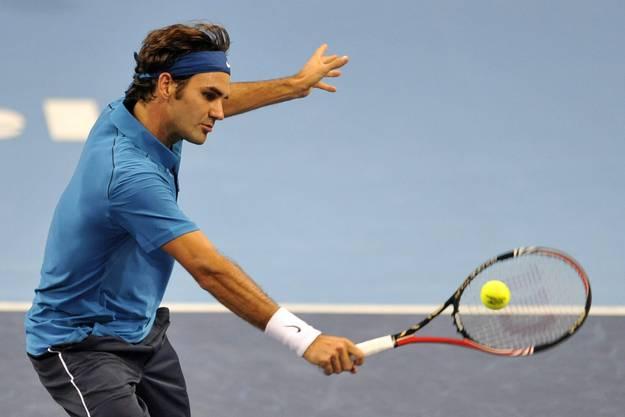Roger Federer musste gegen Jarkko Nieminen über drei Sätze gehen.