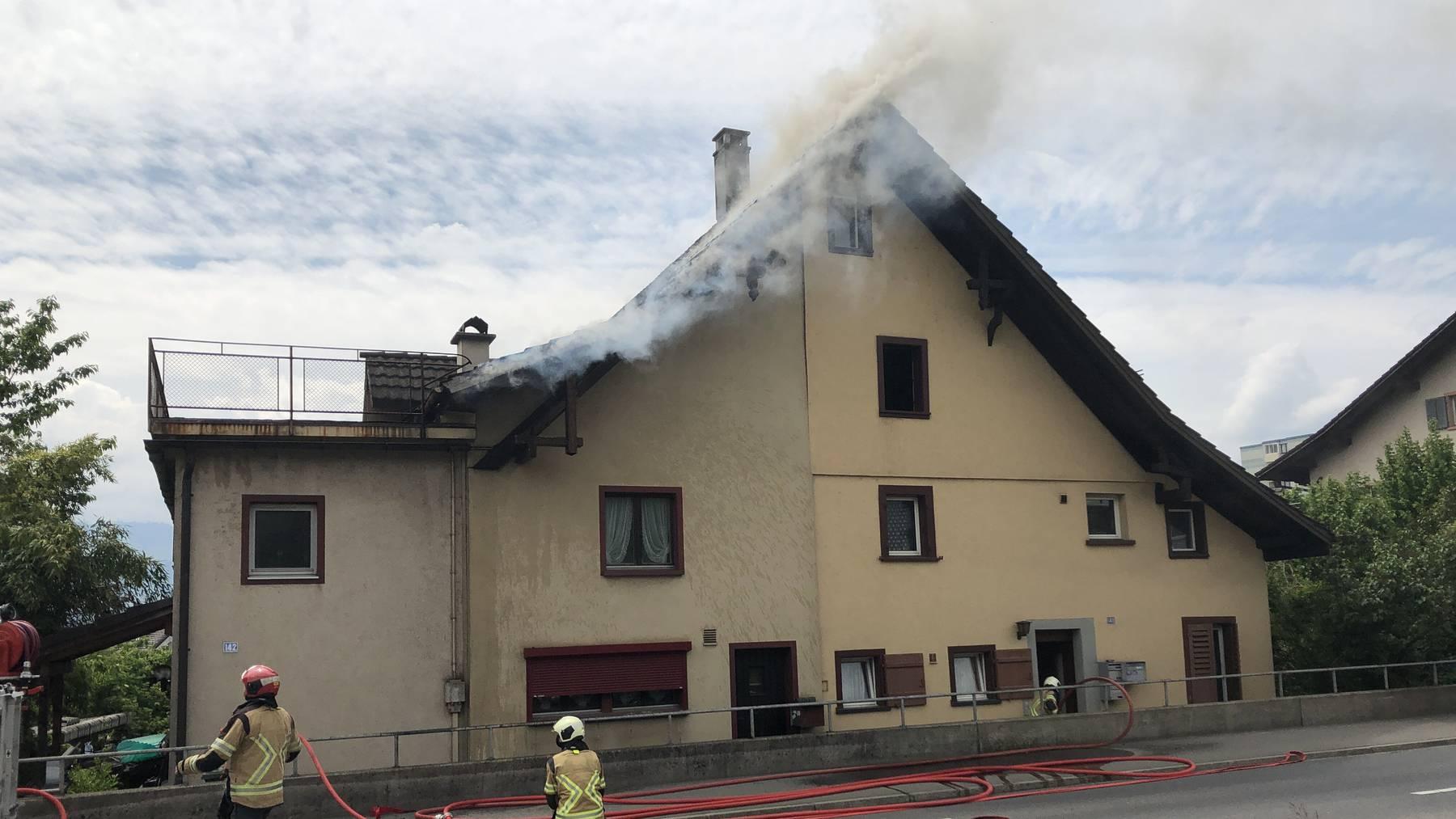 Hausbrand in Rapperswil-Jona