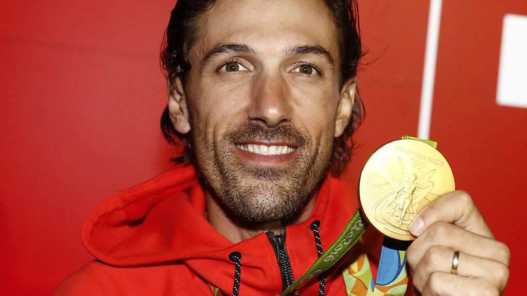 Brachte über 3000 Franken ein: Die Jacke des Zeitfahr-Olympiasiegers Fabian Cancellara