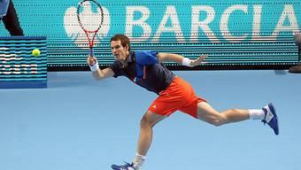 Andy Murray in der Defensive.