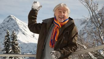 Emil Steinberger am Freitag im Schnee von Arosa. (Bild: Mathias Marx)