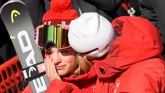 Lara Gut weint nach Rang vier im Super-G. Wieder hat es nicht geklappt mit Gold.