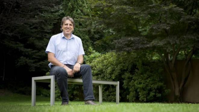 Manuele Bertoli, SP, in seinem Garten. Foto: Bettina Matthiessen