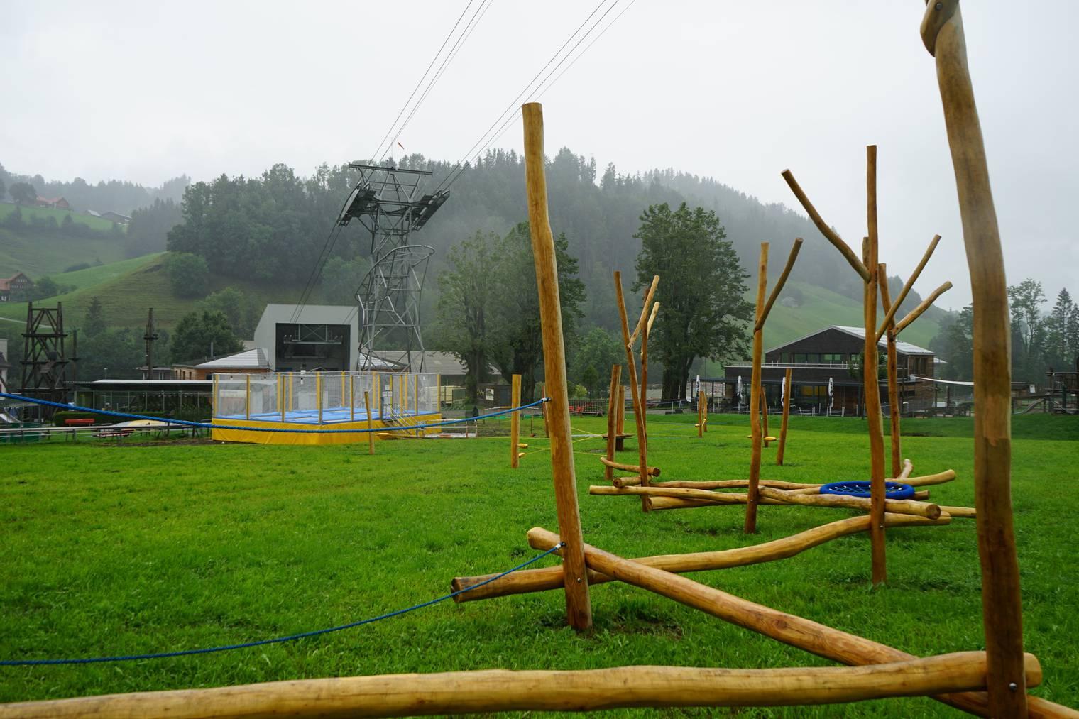 Der Sturmholz-Parcours dient als Andenken an den Seilpark. (Bild: FM1Today/Lena Rhyner)