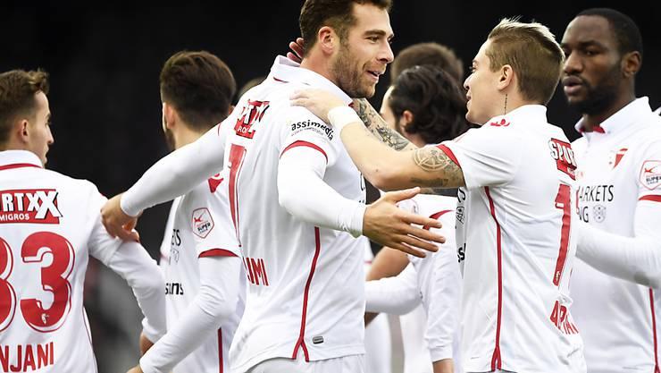 Pajtim Kasami ebnete mit seinem Traumtor dem FC Sion den Weg zum dritten Sieg in Serie