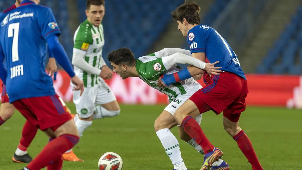 FC St.Gallen trennt sich von Basel 0:0 unentschieden
