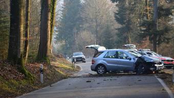 Unfallstelle Gretzenbach vom 26. Februar 2019