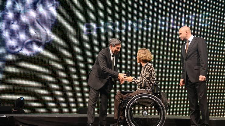 Karin Suter (Rollstuhl-Badminton) wird Basler Sportlerin des Jahres 2015.
