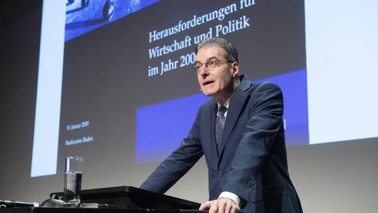 """Andreas Binder, 20. Talk im Trafo über zum Thema """"Universum"""", Referat von deutschen Wissenschaftsastronauten Prof. Dr. Ulrich Walter, Baden, 19. Januar 2019."""