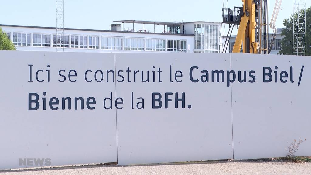 Baustopp beim Campus Biel