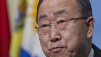 """""""Wir brauchen einen kühlen Kopf"""", sagt UNO-Generalsekretär Ban Ki Moon. (Archivbild)"""