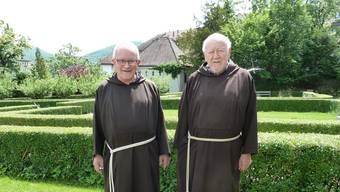 Guardian Joseph Bründler (links) und Bruder Werner Gallati.