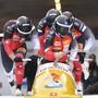 Rico Peter gelingt in Whistler mit dem Viererbob der erste Top-10-Platz in dieser Saison