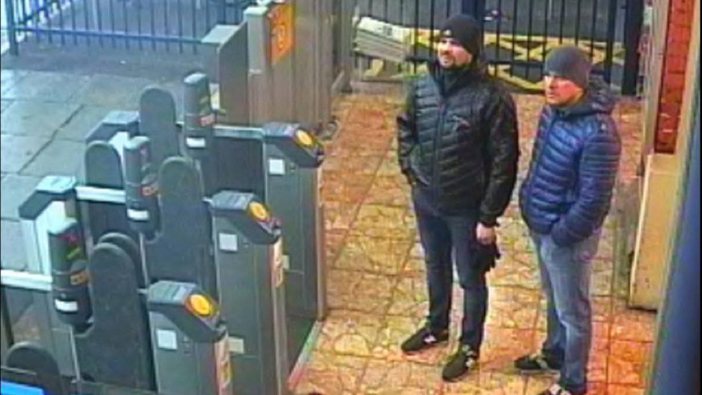 Die britische Polizei sucht im Fall Skripal nach zwei verdächtigen Russen und veröffentlichte unter anderem dieses Foto.
