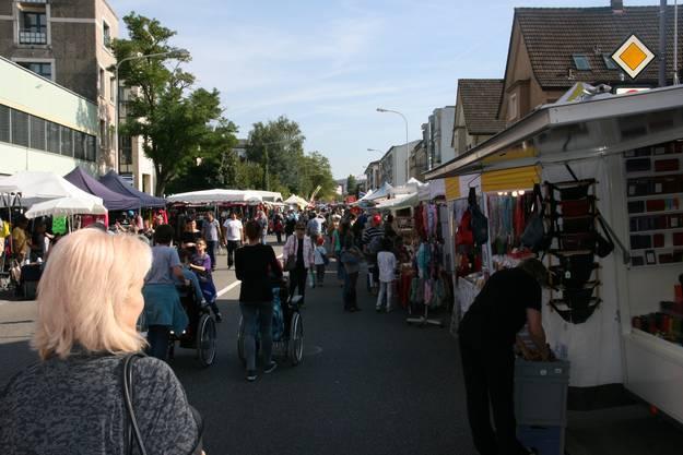 Der Herbstmarkt ist gut besucht