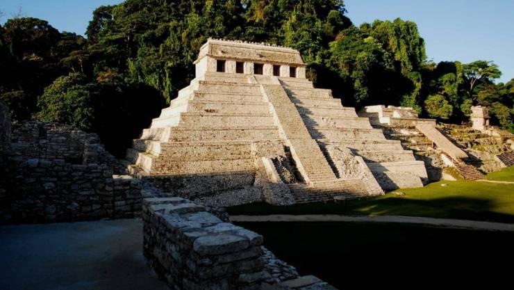 """Tempel in Palenque im südmexikanischen Bundesstaat Chiapas (nicht """"El Palacio"""" - Archivaufnahme von 2012)."""