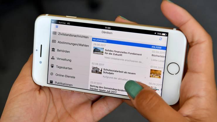 neue Handy-App Däniken