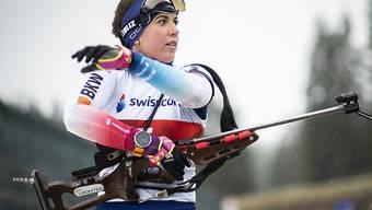 Das Visier am Sonntag ganz schlecht eingestellt: Biathletin Lena Häcki