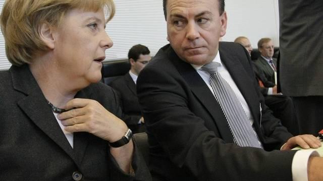Bundeskanzlerin Merkel und Bundesbankchef Weber (Archiv)