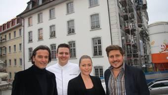 Simone Berchtold, Martin Volkart, Martin Elschner und Roman Oschwald freuen sich auf die Eröffnung der «La Couronne».