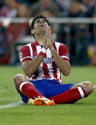«Dios Mio» muss sich Atletico-Stürmer Diego Costa denken..