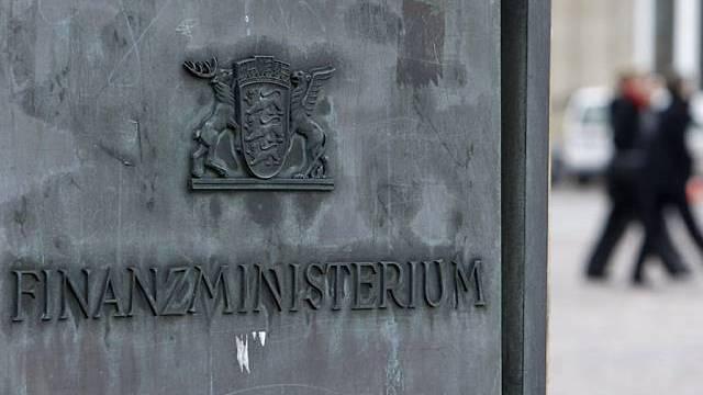 Schriftzug des Finanzministeriums Baden-Württemberg (Archiv)