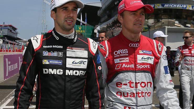 Erbt in Silverstone vom disqualifizierte Marcel Fässler (rechts) den Sieg: der Berner Neel Jani