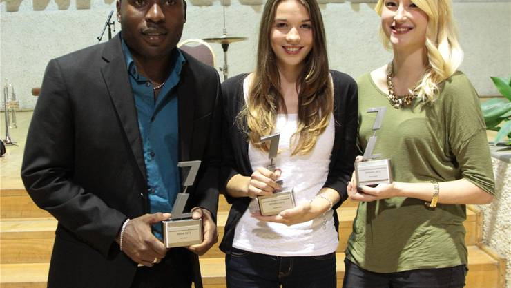 Die Sieger: Alex Wilson, Michelle Müller und Simone Werner (v.l.). ZVG