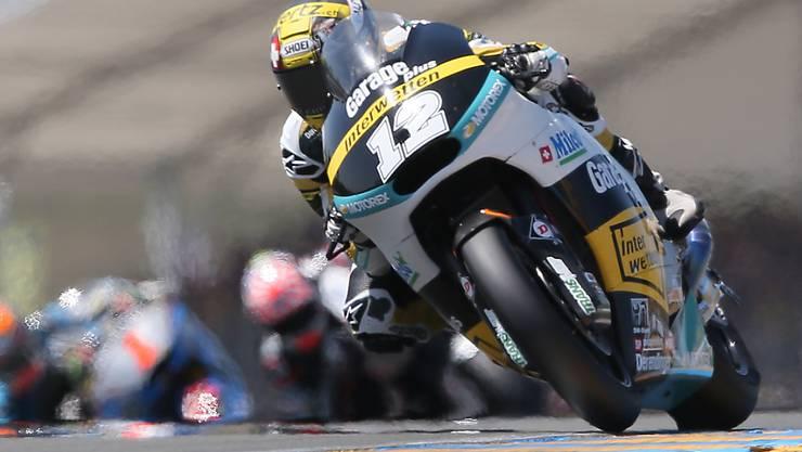 Trotz zuletzt zwei Rennstürzen in Japan und Australien zeigt sich Tom Lüthi auf dem Circuit in Sepang glänzend aufgelegt.