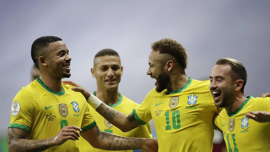 Brasilien gewinnt Eröffnungsspiel gegen Venezuela