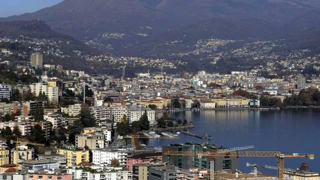 Das Tessin liegt bei den Firmengründungen an der Spitze: Blick auf Lugano (Archiv)