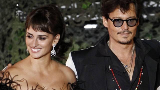 Penélope Cruz und Johnny Depp an der Premiere