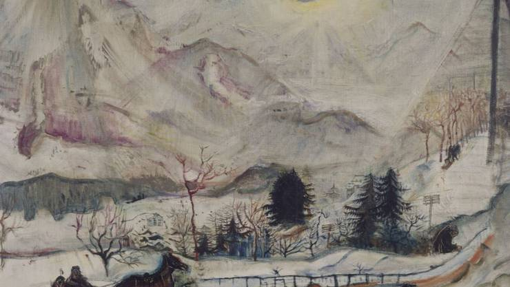 """Das Gemälde """"Les Dents du Midi"""" (1910) ist vom 14. Dezember 2018 bis 10. März 2019 im Kunsthaus Zürich in der Ausstellung """"Okskar Kokoschka. Eine Retrospektive"""" zu sehen."""