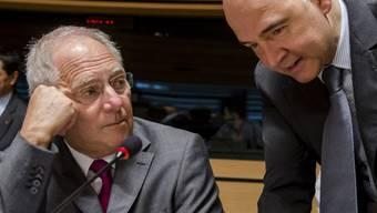 Noch keine Lösung: Wolfgang Schäuble (l.) und Pierre Moscovici