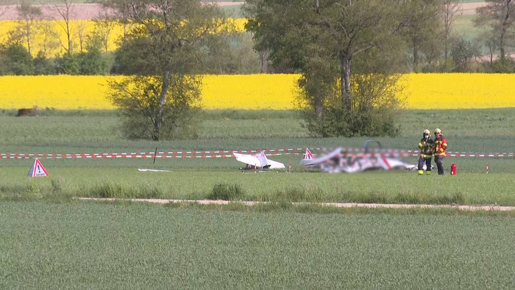 Kleinflugzeug stürzt in Oberramsern ab