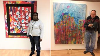 Blessing Yiase ist eine von 16, die ihre Arbeiten zeigen. Urs Fuhrer findet Inspiration in Picasso-Büchern.